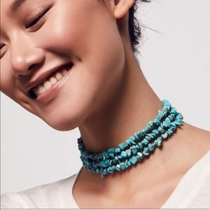 Free People Gemstone Beachcomber Choker Necklace